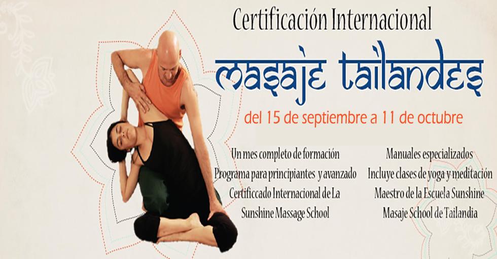 Certificación Internacional Masaje Tai Nivel I y II