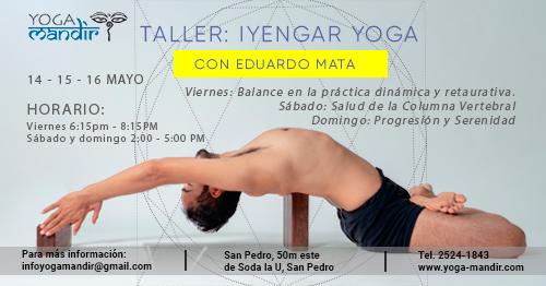 Taller de Iyengar con Eduardo Mata