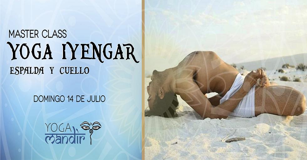 Master class Yoga Iyengar para espalda y cuello